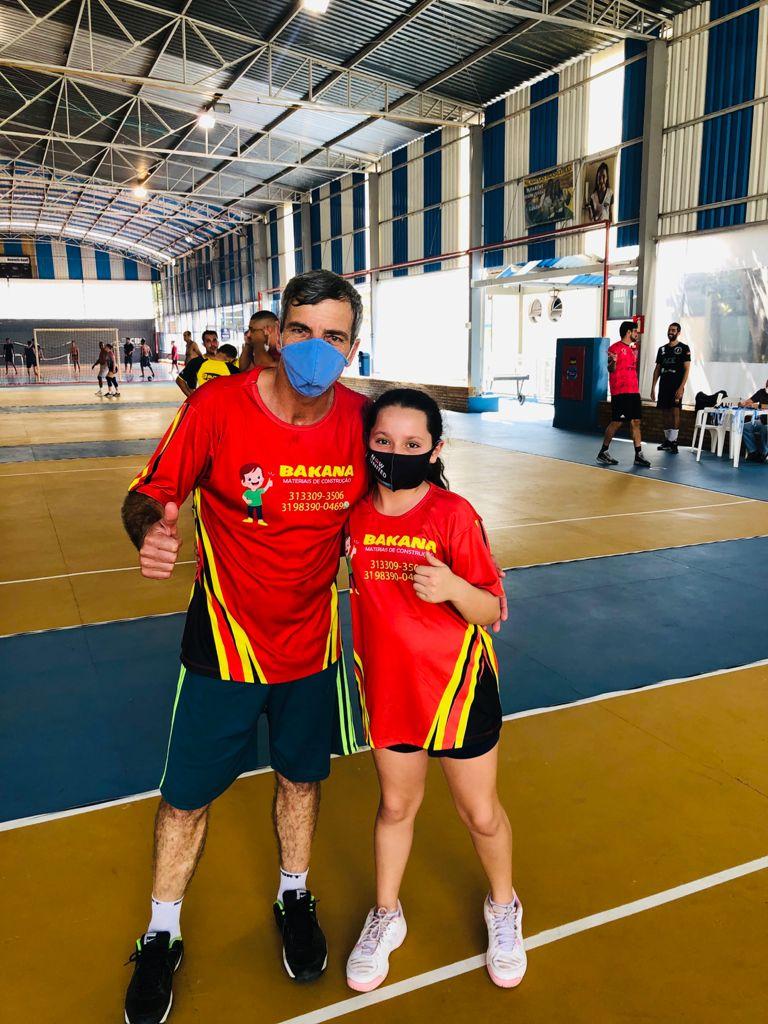 Gilson Souza e Laura Ferraz: dupla campeã na categoria Mirim