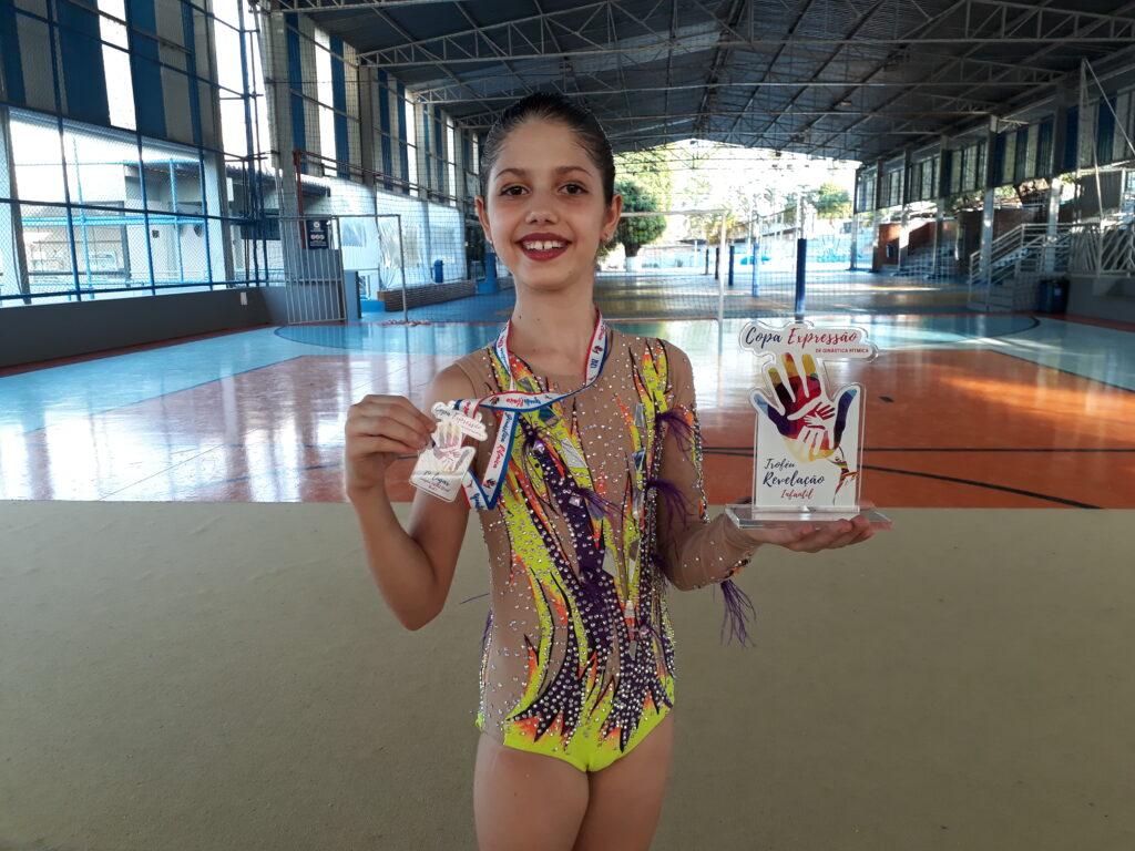 (Ana Luiza Conrado Lima ficou em 1º lugar na categoria infantil)